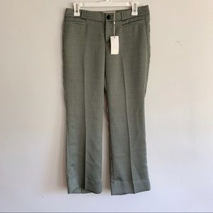 Tory Burch Green Paisley Print Cropped Pants